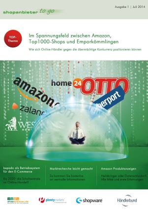 Erstausgabe E-Commerce Magazin Shopanbieter2go