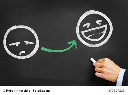 Smileys unglücklich glücklich